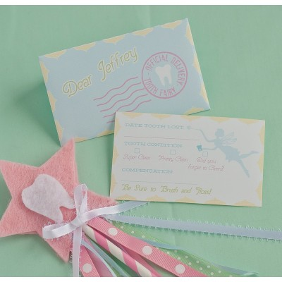 Tooth Fairy Printable Report Card and Pocket Envelope